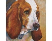 Basset Hound a print of an original painting