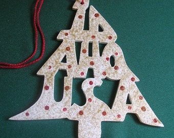 Idaho ornament, tree shaped