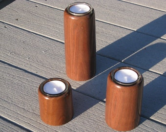 Black Walnut Wooden Tea Light Candle Holders