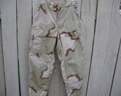 Small - Studded US Army Desert Camouflage Pants, High Waisted Pants, Cargo Pants, Spiked Pants, Army Trouser
