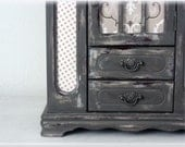 Shabby Chic Jewelry Box Dresser/Armoire French  Monogrammed OOAK