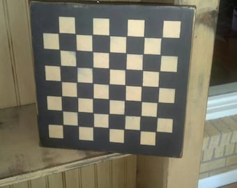 Checkerboard Handcrafted Sign