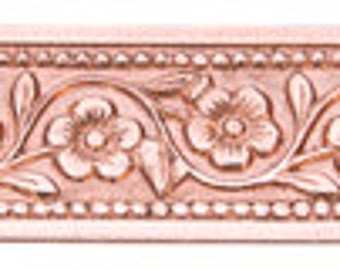 Flower Chain Patterned Copper Wire 3 Foot Package 8mm Wide
