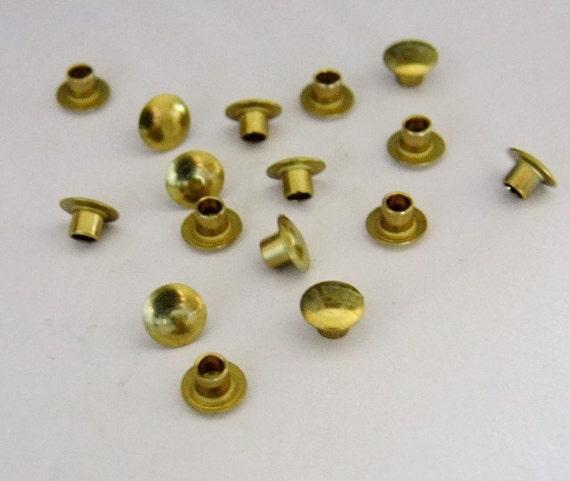 Hollow Rivet Setting Tool : Brass hollow rivets wide long package