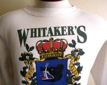 vintage 90's Whitaker's Tavern Hobart Tasmania Australia tourist travel souvenir graphic sweatshirt men women unisex white crew neck fleece