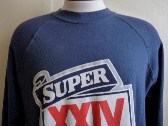 vintage 90's Super Bowl XXIV souvenir commemorative dark blue fleece men's/unisex graphic sweatshirt, Super Bowl 24, Louisiana superdome