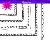 Oodles of Doodle Frames Digital Borders Set 1 -- Buy 2 GET 1 FREE