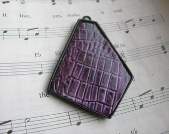 Purple Pendant- Irregular/Abstract Shape- ONLY 1 AVAILABLE