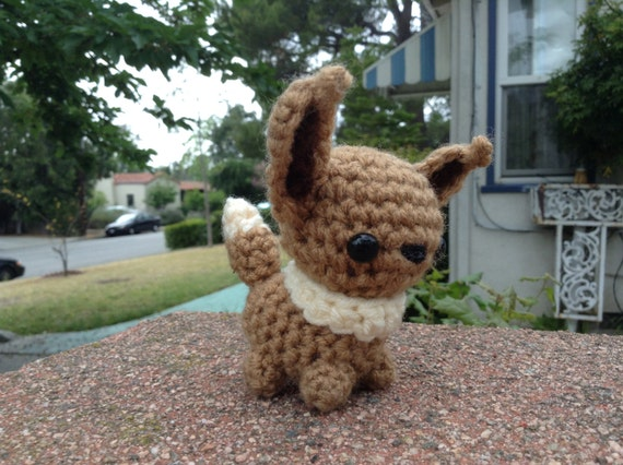 Crochet mini Eevee crochet amigurumi chibi doll by ...