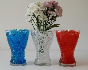 8oz. (220 gram) pkg. water crystals round water Pearl Liquid Storing Gel Beads  (vase fillers)