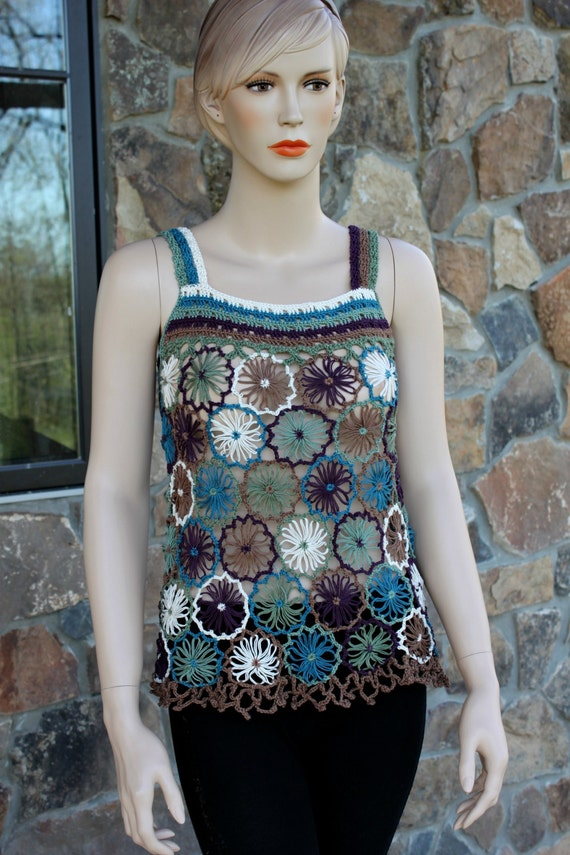 Crochet Multicolor Tunic