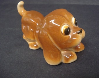 Adorable PLAYFUL PUPPY DOG - Figurine  - Made in Occupied Japan  - Adorable Puppy Dog Figure