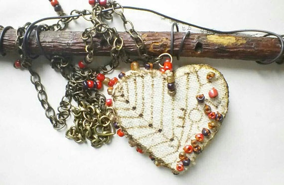 Heart Necklace - Folk Heart Necklace