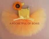 Sunflower Yellow Tutu Dress, Yellow Tutu Dress, Tutus Extra Fluffy