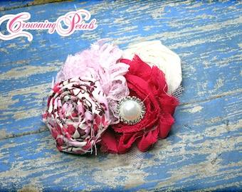 Magenta, Light Pink Flower Headband, White Baby Hair Accessories, Flower Hair Bow, Purple, Baby Pink Hair Clip, Hair Piece, Fabric Flower