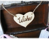 Rustic Wooden WISHES wedding sign in natural wood - Made and ready to ship