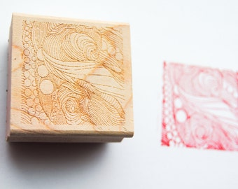 Octopus Stamp - Linework Stamp - Chop Design - Dressed in Colors of Intrigue - Wood Mounted Rubber Stamp