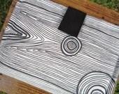 Kindle Case - Kindle Cover - Ebook Reader - Kobo - Nook - iPad -Tablet - Padded - Wood - Cotton - Felt - Black