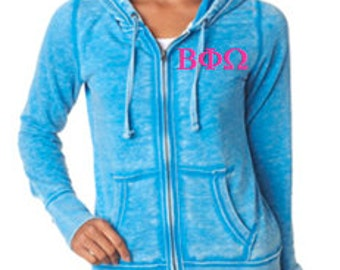 Ladies Vintage Zen Full-Zip Hooded Fleece