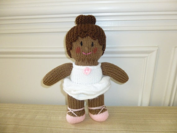 Knitting Pattern Ballerina Doll : Ballerina Doll Soft Toy Recital Knitted by HandKnitsbyElaine