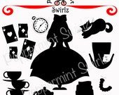 Alice in Wonderland (2) Clip Art