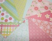 Paper pack 6 x 6 inch destash, spring morning pastels, 20 sheets one side scrapbooking paper