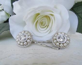 Pearl Hair Pins,Bridal Hair Comb Pearl, Pearl Bridal Hair Accessories,Pearl Wedding Hair Accessories, Crystal Hair Pins,hair pins