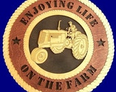 Wood Home Decor, Farmer an his Tractor Wall Decor,  Wall Tribute, Wall Art, Wood Work, farmer on his farm, Gift, Wall Hanging