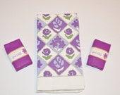 Soap Set, April Violets by Yardley, Vintage Soap Gift Set, John Wanamaker
