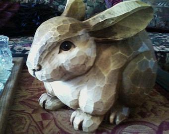 Wood Look Bunny
