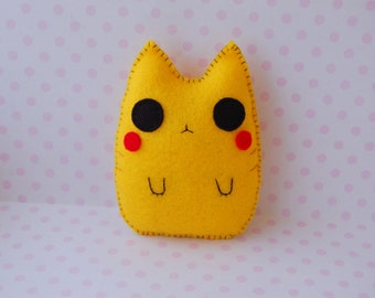 Pikachu cat handmade soft doll