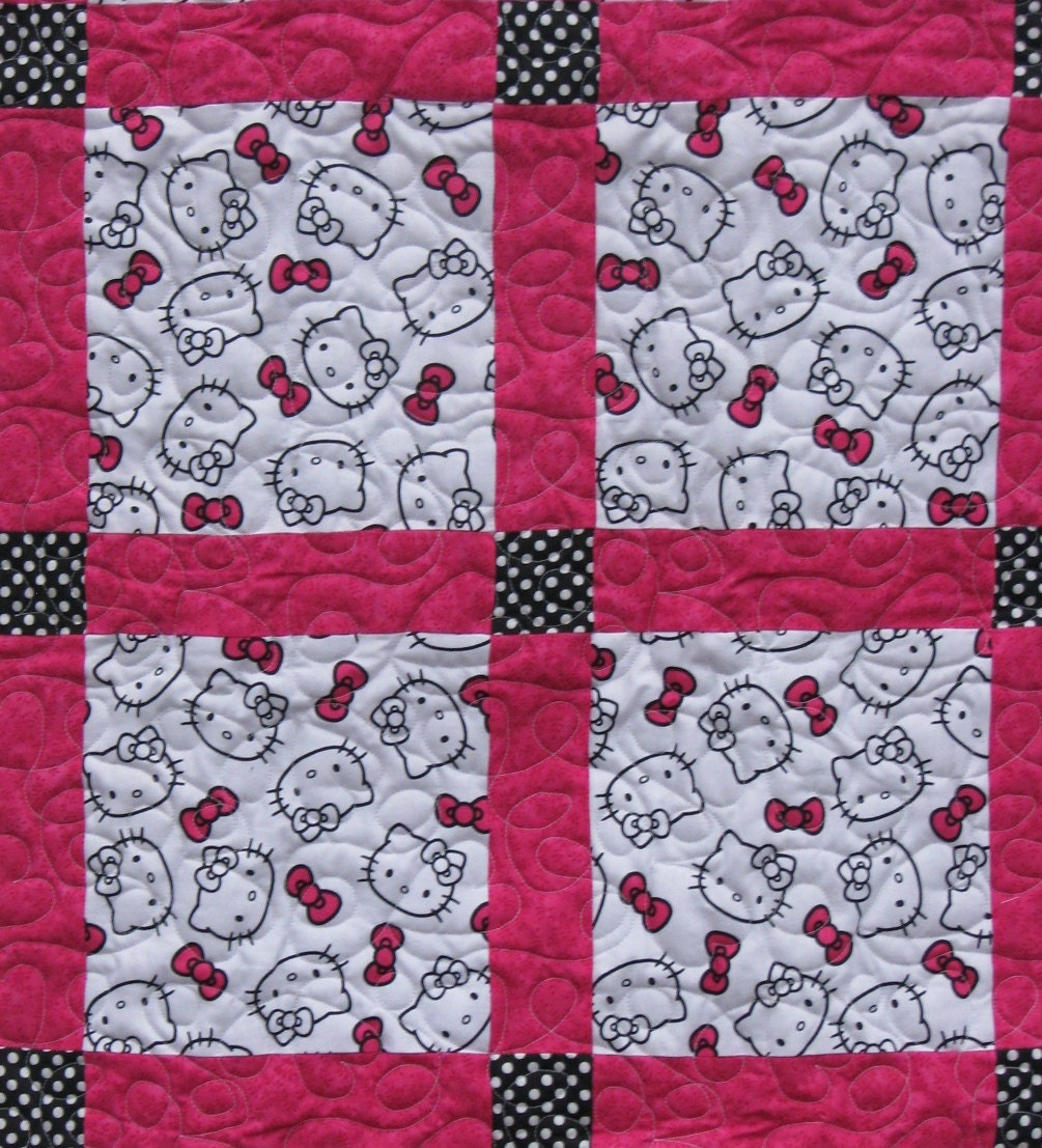 hello kitty baby girl quilt. Black Bedroom Furniture Sets. Home Design Ideas