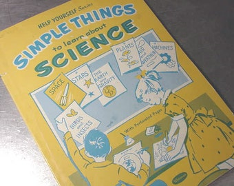 Vintage 1960 COLORING BOOK Simple Things SCIENCE Whitman