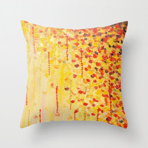 WHEN IT FALLS Abstract Art Throw Pillow Cover 16x16 18x18