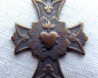 Bronze Sacred Heart Cross Medal