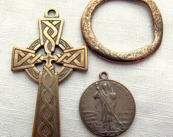 Bronze St Patrick Irish Celtic Rosary Set