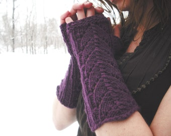 Fingerless Gloves, Knit Fingerless Gloves, Lace Fingerless Gloves, Knit Wrist Warmers, Victorian Gloves, Fairy Faerie Fae, Mori Girl