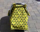Car seat canopy/ John Deere car seat canopy/ car seat cover