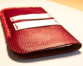 Sale. Samsung Galaxy Note red leather case. Ready to ship.