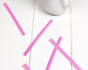 Pink twist ties 12 cm (Set of 30)