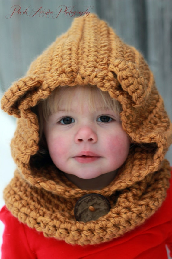 Crochet Baby Bear Cowl Pattern : Baby Bear Crocheted Cowl