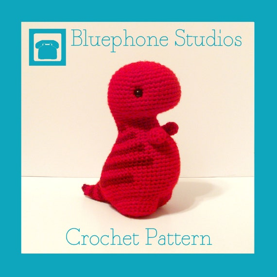 Crochet Patterns Free Doll Clothes : Crochet Pattern: Timothy the T-Rex by BluephoneStudios on Etsy