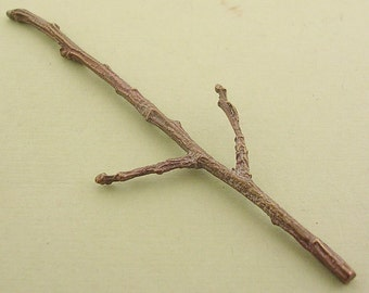 cast bronze twig long forked twig finding  BUT005
