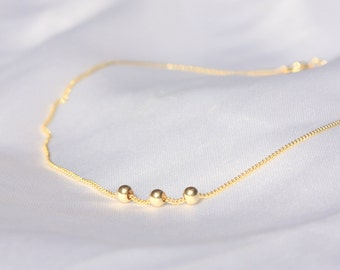 Thin Gold Anklet - dainty gold ankle bracelet, minimalist bracelet,14k gold filled tiny beads anklet, Minimum Jewelry, jewelry gold bracele
