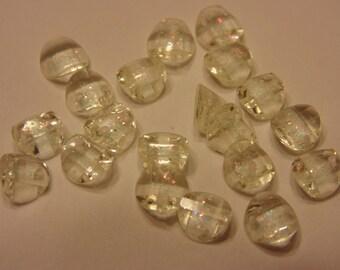 20 tiny sew on rhinestone buttons, 6 mm (27)