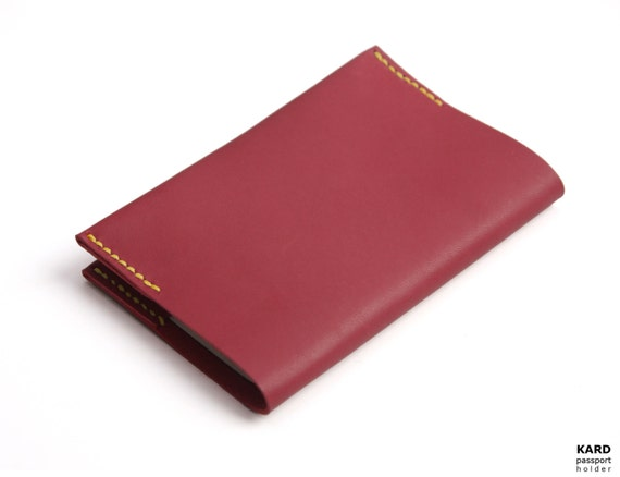 Hand Stitched Leather Passport Holder in Tibetan Red (Limited Edition)