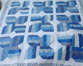 Spa Blue and White Quilt