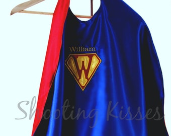 Super Hero Cape Costume, Reversible, Personalized, Machine-Embroidered, Gifts Under 50