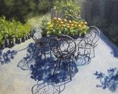 """Original Garden Painting - """"Flower Feast"""""""