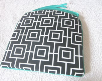 Ash Geometric Outdoor Cushion 38cm x 38cm